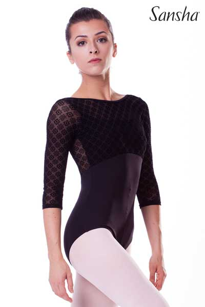 Sansha 3/4 Sleeves Leotard LAYLA 50AI0090M