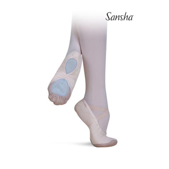 Sansha demi-pointes chaussons danse classique toile BRAVO 7 37C