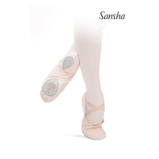Sansha demi-pointes chaussons toile bi-semelle SILHOUETTE 3C