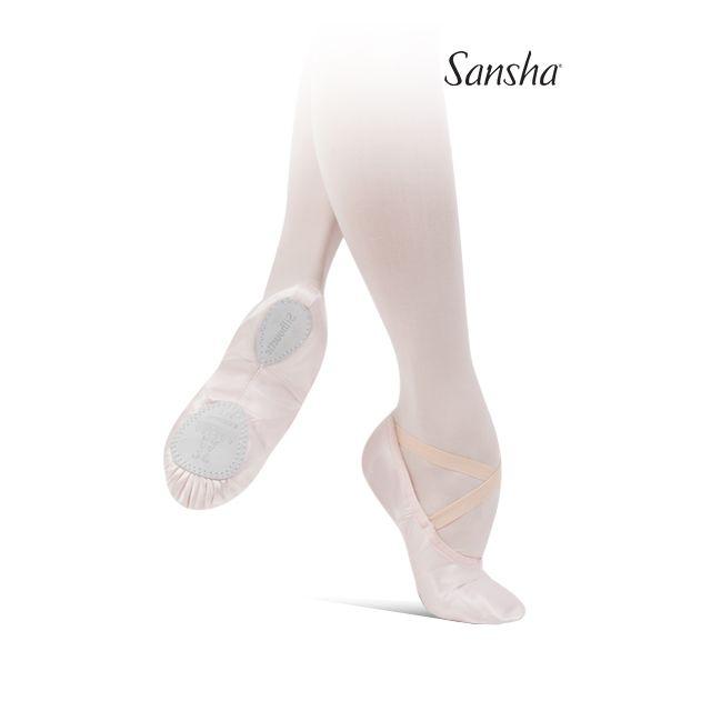 Sansha demi-pointes chaussons danse classique satin SILHOUETTE 3S