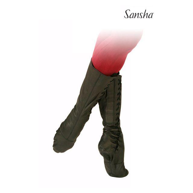 Sansha bottes de scène+ballet cuir RUDIK BB1L