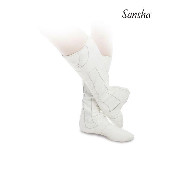 Sansha bottes de scène+ballet cuir bi-semelle VASLAV BB3L
