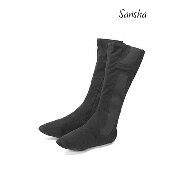 Sansha bottes de scène+ballet bi-semelle toile VASLAV BB4C