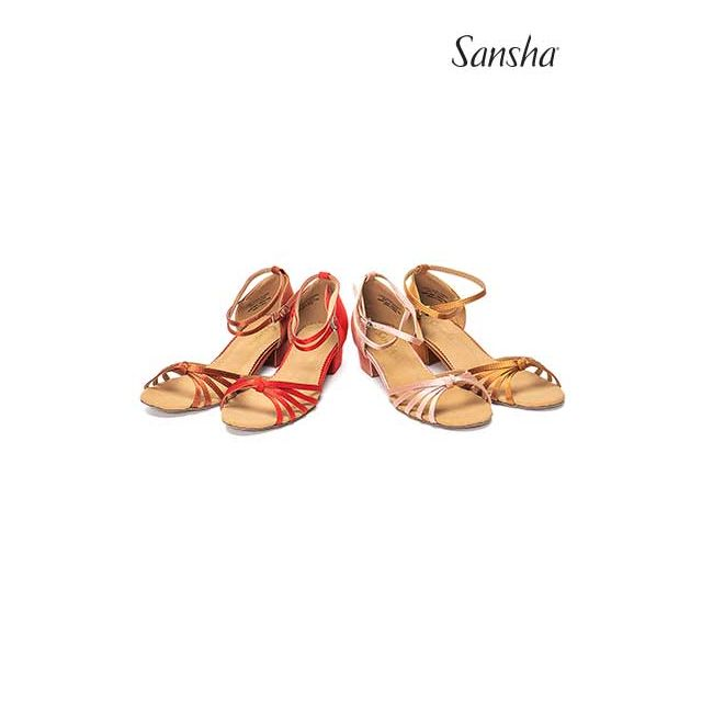 Sansha chaussures danse de salon latine noeud GRACIA BR13026S