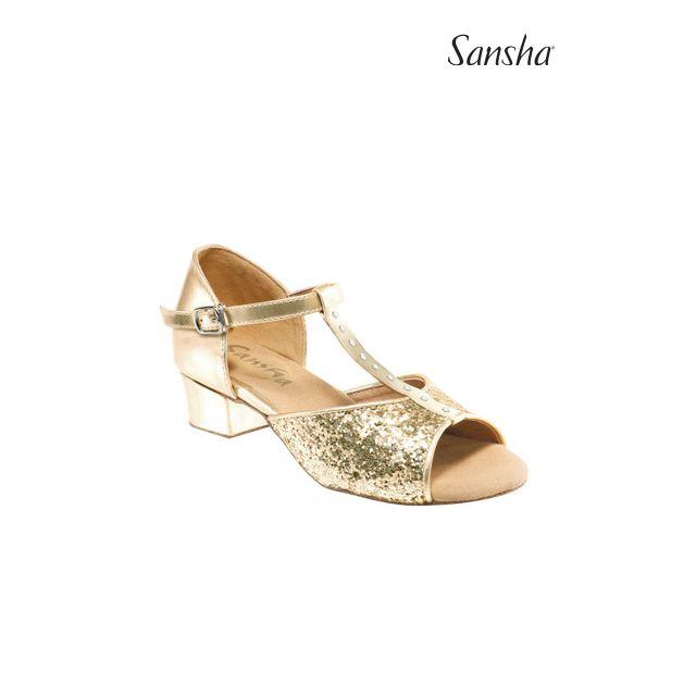 Sansha chaussures danse salon enfant scintill ANA BK13048GL
