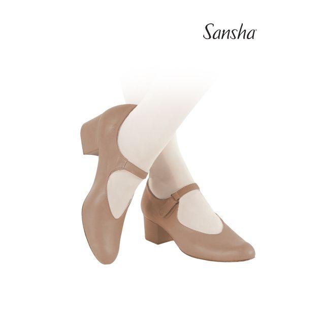 Sansha chaussures danse de caractère cuir MYRTHA CL51L