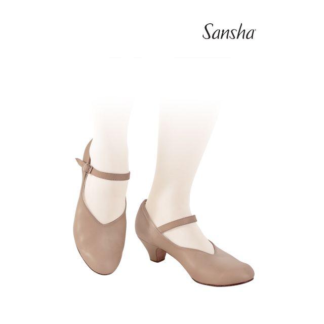 Sansha chaussures danse de caractère cuir LORETTE CL52L