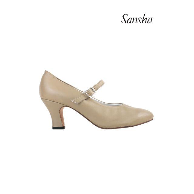Sansha chaussures danse de caractère cuir ROBERTA CL54L