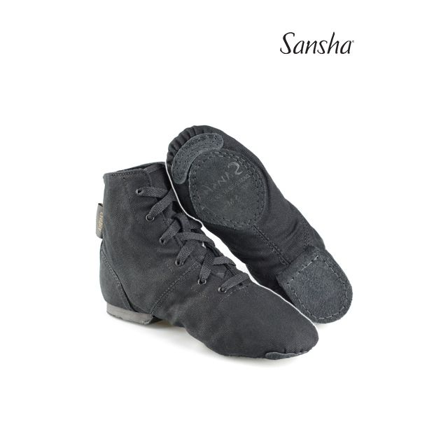 Sansha bottines de jazz toile SOHO JB3C