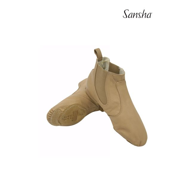 Sansha bottines de jazz cuir LIDO JB5L