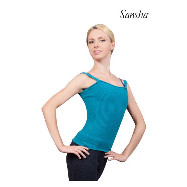 Sansha Top sans manches en maille côtelée BLUEBELL KS100