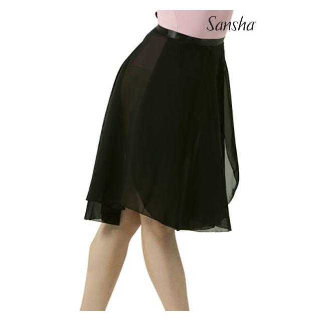 Sansha medium length jupette à nouer ALINE L0906CH
