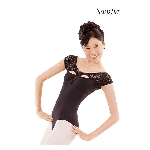 Sansha tunique justaucorps manches courtes ANNETTE L3536M
