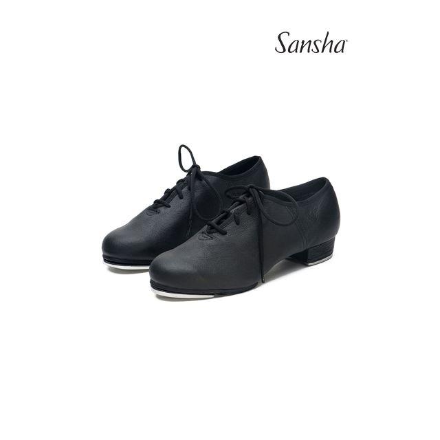Sansha chaussures de claquettes cuir bi-semelle T-SPLIT TA01L