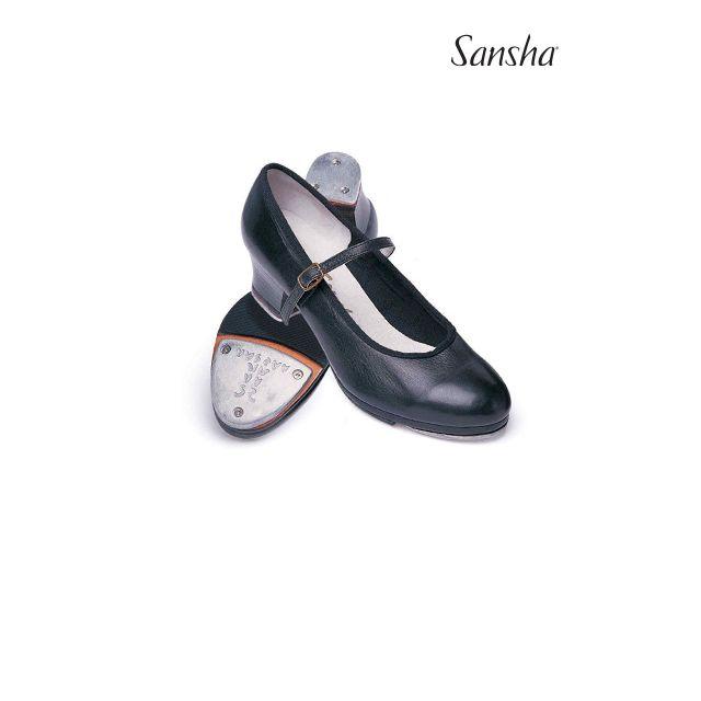 Sansha chaussures de claquettes cuir T-MORAVIA TA05L-1