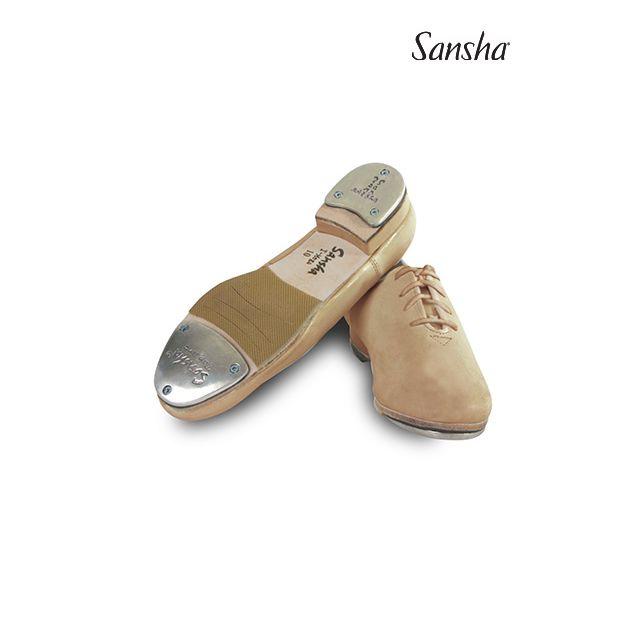 Sansha chaussures de claquettes cuir à lacets T-MEGA TA08L