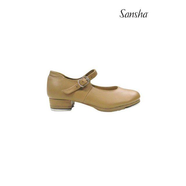 Sansha chaussures claquettes cuir enfant TEE-COMET TA27L