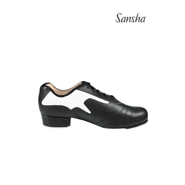 Sansha chaussures de claquettes cuir à lacets T-BROADWAY TA87L