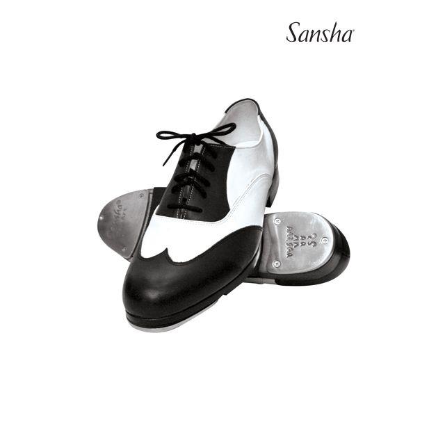 Sansha chaussures de claquettes cuir à lacets T-BOJANGO TA88L