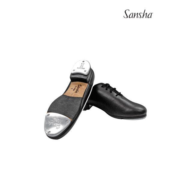 Sansha chaussures de claquettes cuir à lacets T-MEGA TA908L