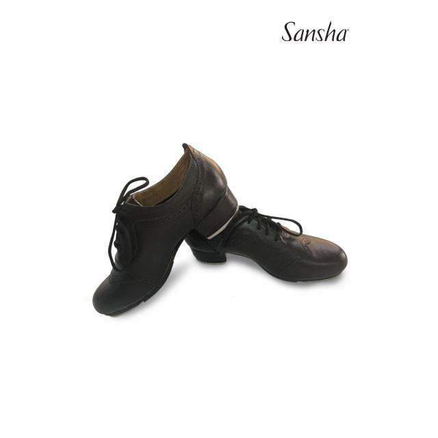 Sansha chaussures de claquettes cuir à lacets T-BERLIN TA98L