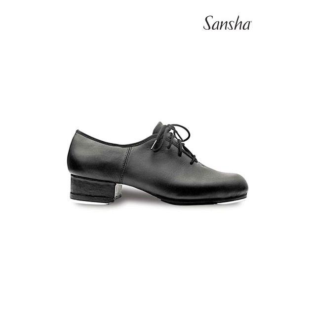 Sansha chaussures de claquettes cuir à lacets T-WORLD TA99L
