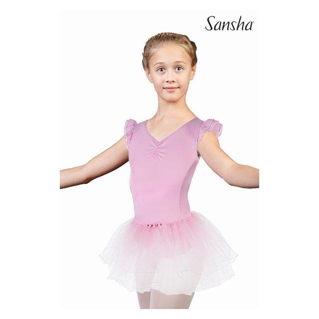 Sansha tutu sans manches avec détails en fleurs FLEUR Y1810N